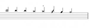 Write Drum Music - Note Heads