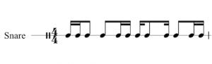 Write Drum Set Music - Staff 1 Line
