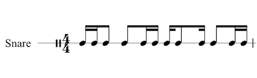 Write Drum Set Music - Staff 1 Line