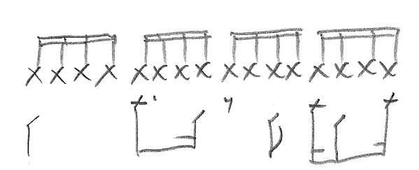 Notation - Drum Beat Hand Written - Sheboygan Drums - Drum