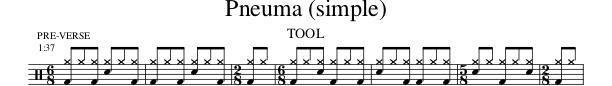 Pneuma Drum Notation Simple Excerpt