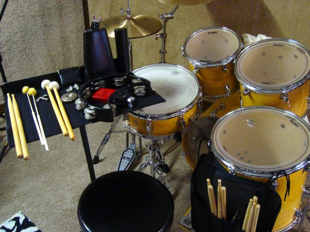 Drum Set with Trap Stand and Accessories