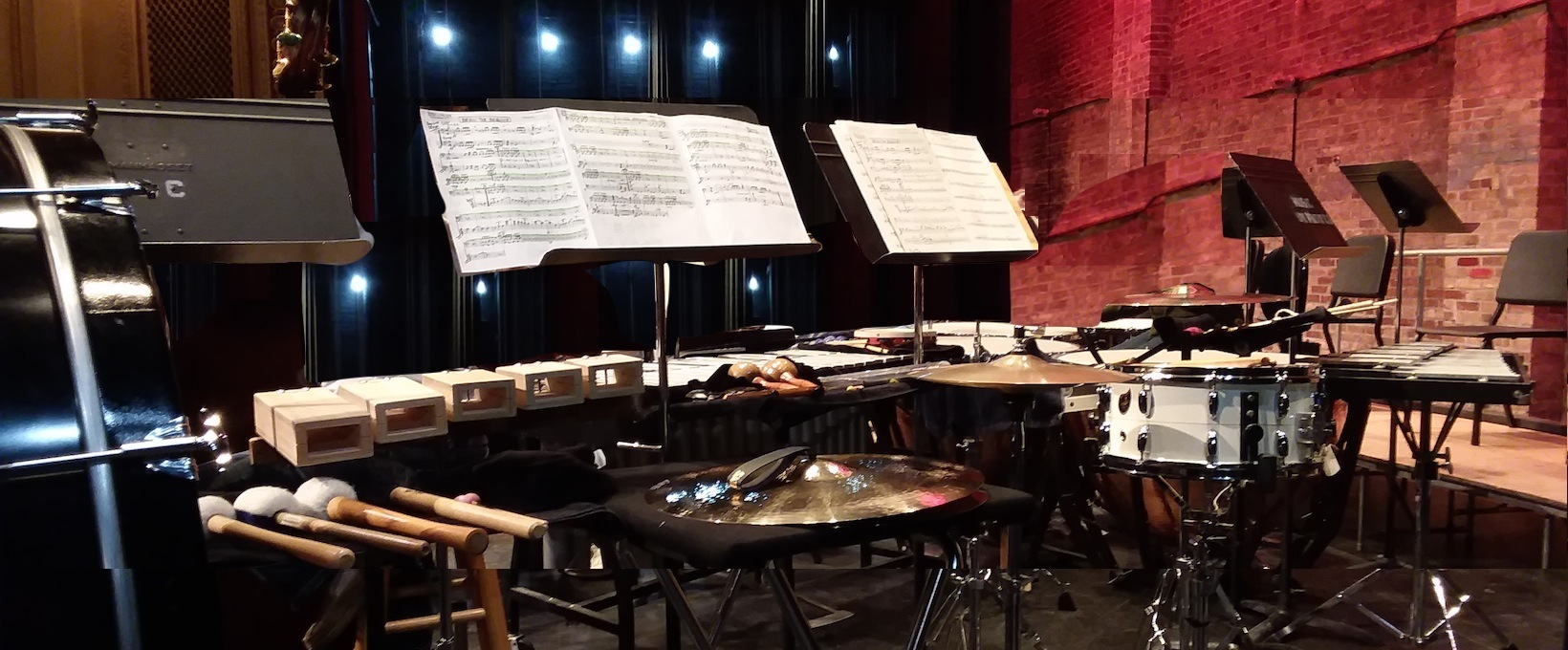 Sheboygan Drums Percussion Setup on Stage